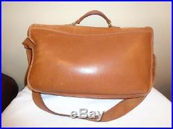 Vintage 1980s Coach Women's Briefcase Brown Leather Laptop Messenger Bag