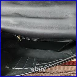 Vintage COACH LEXINGTON 5265 Solid Black Leather Briefcase Satchel Laptop Bag