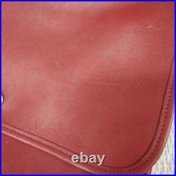Vintage Coach F5c 5181 Rare Red Leather Briefcase Laptop Bag