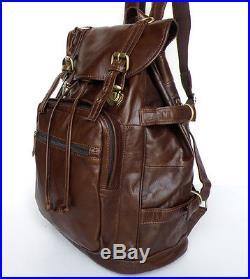 Vintage Cowboy Genuine Leather WOMAN UNISEX Laptop Backpack Bookbag Travel bag