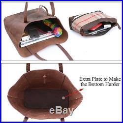 Vintage Genuine Cow Leather Tote Bag for Women Handbag Shoulder laptop Bag