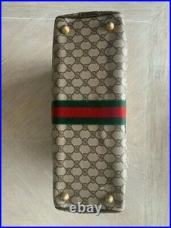 Vintage Gucci Brown GG Attache Briefcase Laptop Bag