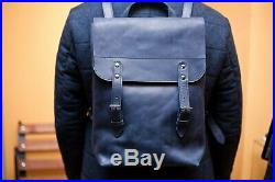 Vintage Leather Backpack School Travel Laptop Mens Womens Minimalist Handmade