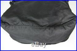 Vintage Prada Nylon Tessuto Crossbody Messenger Black Laptop Bag