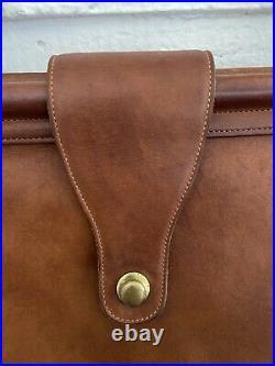 Vtg Auth Coach Barclay Bag Brown Leather Tote Laptop Case Doctors bag XL 16
