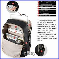 Wolfrealm Laptop Backpack for Women&Men Business (14with sleeveBlue)