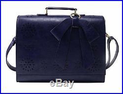 Women Faux Leather Bag Briefcase Shoulder Laptop Messenger Bags Blue Coach