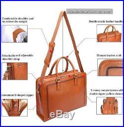 Women Leather Briefcase Laptop Attache Case Handbag Business Messenger Bag Purse