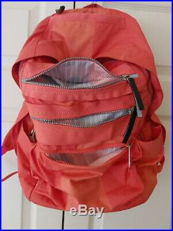 Women Lululemon Pack to Reality Laptop Backpack School Bag Orange Coral