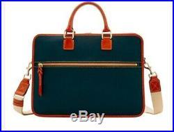 Women New Dooney & Bourke Black Pebble Grain Leather Laptop, Computer, Bag