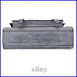 Women's Genuine Leather Vintage Briefcase Laptop Handbag Messenger Shoulder Bag