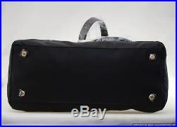 Women's Nylon Leather Handbag Purse Tote Shoulder Laptop Bag Shoe Compartment