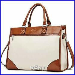 Womens Briefcase Oil Wax Leather 15.6 Inch Laptop Business Vintage Ladies