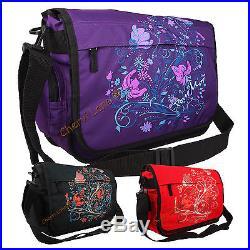 Womens Girls Pour Moi Floral School College Uni A4 Laptop Messenger Satchel Bag