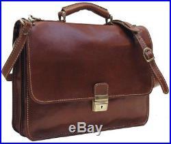 Womens Mens Attache Case Wallet Lawyer Leather Laptop Briefcase Messenger Bag