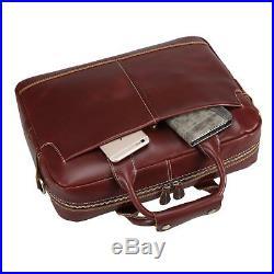 Womens Mens Briefcase Leather Lawyer Laptop Messenger Bag Attache Case Wallet