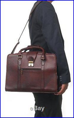 ZipperNext Genuine Leather Messenger Bag 15.6 Laptop Briefcase Bag for Women or