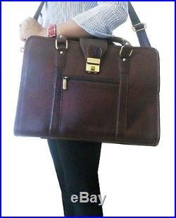 668c95791b ZipperNext Genuine Leather Messenger Bag 15.6 Laptop Briefcase Bag for  Women or
